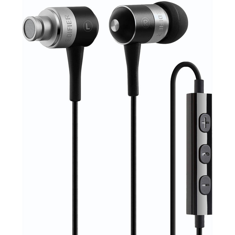 Edifier i285 In Ear Isolating Earphones with Apple Controls & Mic - Black - Refurbished