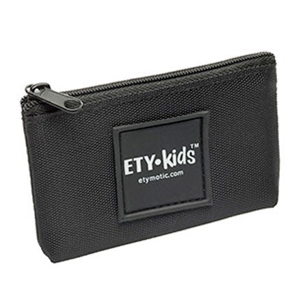 Etymotic ER38-65EK Black Earphone Storage Pouch with ETY-Kids Logo