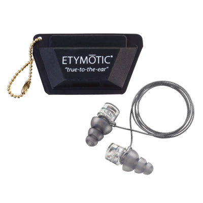 Etymotic ER-20XS High Fidelity Earplugs Standard - Clear Stem-Frost Tip (Polybag Packaging)