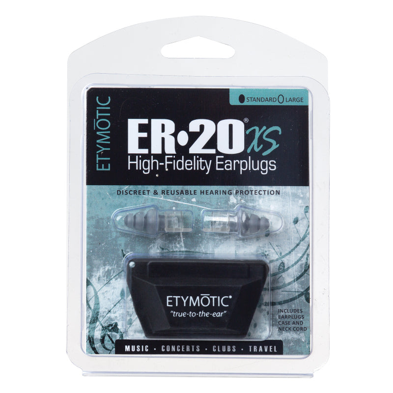 Etymotic ER-20XS High Fidelity Earplugs Standard - Clear Stem-Frost Tip (Clamshell Packaging)