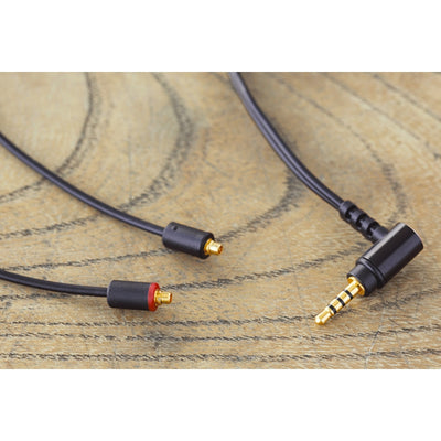 Final C112 Black MMCX Cable with Balanced 2.5mm Angled Plug - 1.2m