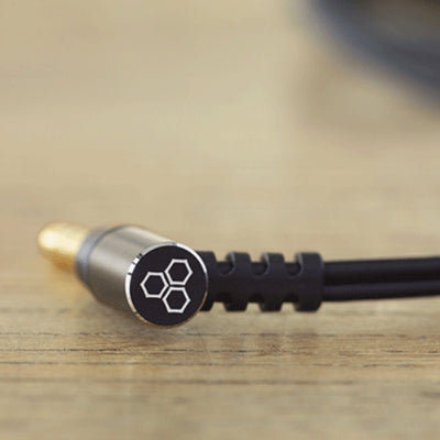 Final C112 Black MMCX Cable with 3.5mm Angled Plug - 1.2m