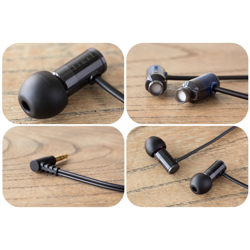 Final E1000 In Ear Isolating Earphones - Black - Refurbished