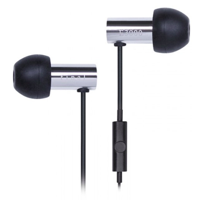 Final E3000C In Ear Isolating Earphones with Smartphone Controls & Mic - Stainless Steel