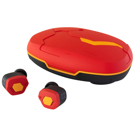 Final Evangelion EVATW02 True Wireless Earphones -  Red and Yellow