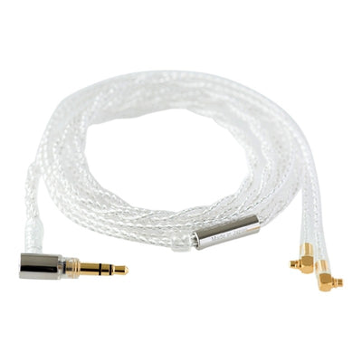 Final C071 Silver Cable with Angled MMCX - Angled 3.5mm Plug and Ear Hooks - 1.2m