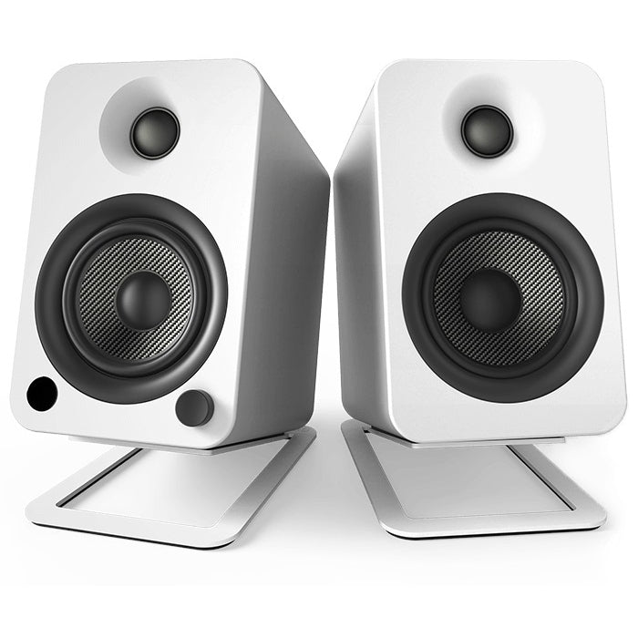Kanto Audio S4 Medium Desktop Speaker Stands - White Steel