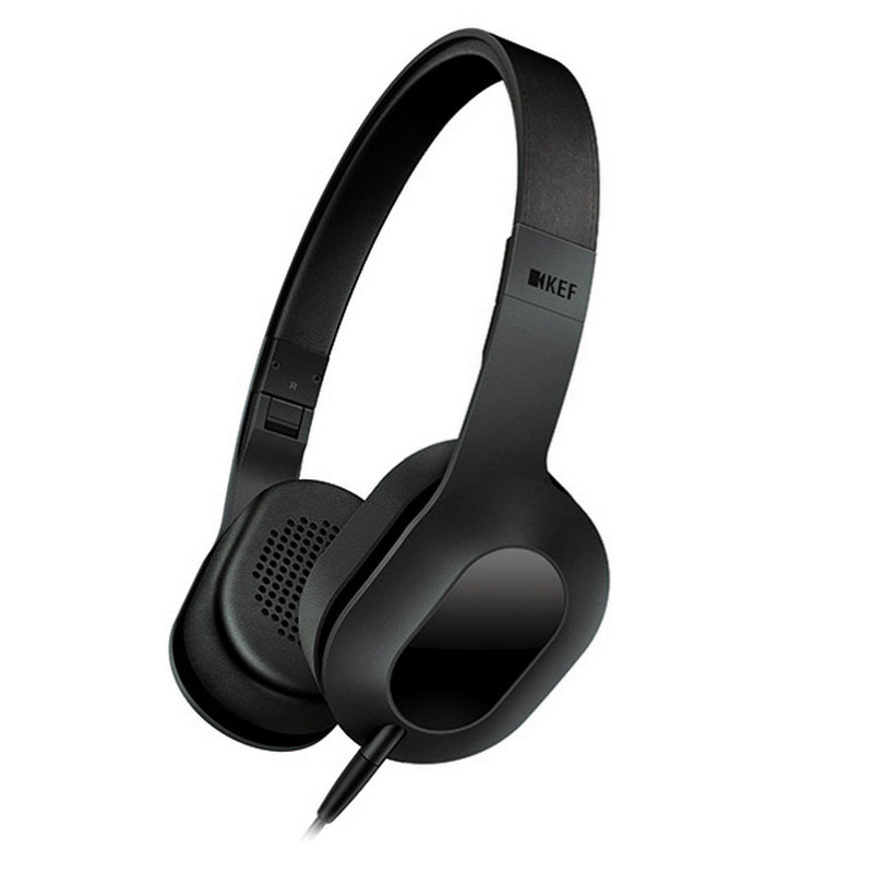 KEF M400 Headphones with Detachable Cable and Apple Controls & Mic - Deep Black - Refurbished