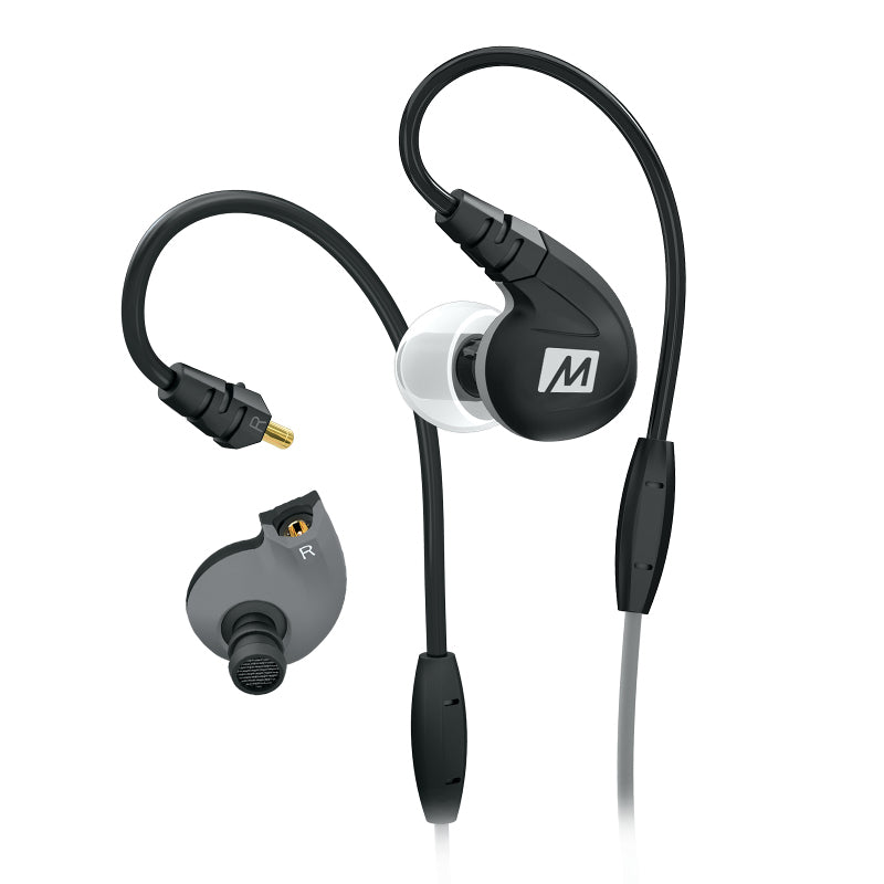 MEE Audio M7P Sports In Ear Earphones with Universal Controls & Mic - Black - Refurbished