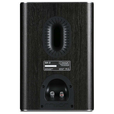 Mission QX-2 Bookshelf Speakers - Black Wood - Ex-Demo