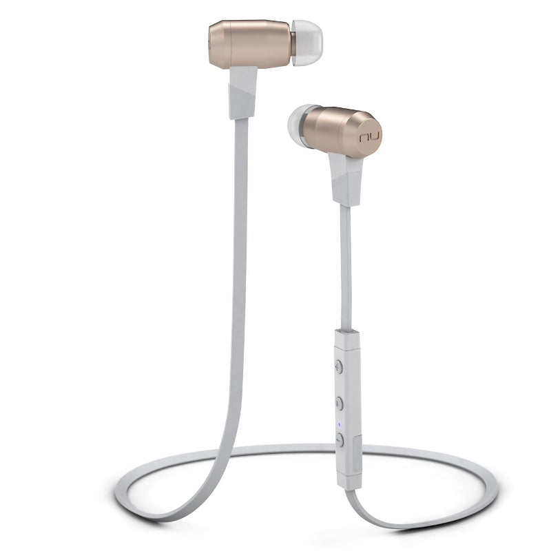 Optoma NuForce BE6i Wireless In Ear Isolating Earphones with Smartphone Controls & Mic - Gold - Refurbished