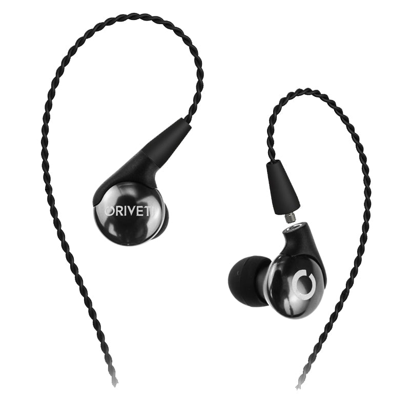 Oriveti Basic IEM Earphones with Detachable Cable - Jet Black - Ex-Demo