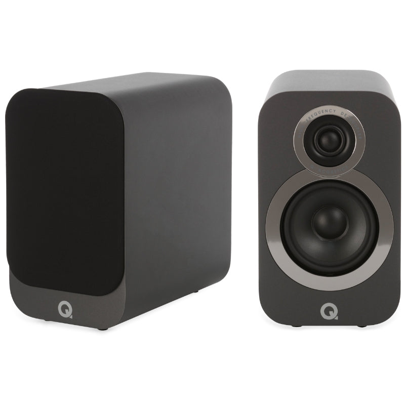 Q Acoustics 3010i Compact Bookshelf Speakers - Graphite Grey