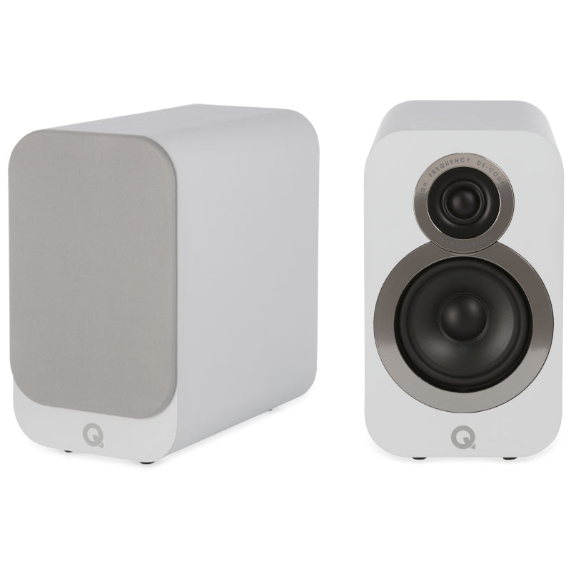Q Acoustics 3010i Compact Bookshelf Speakers - Arctic White