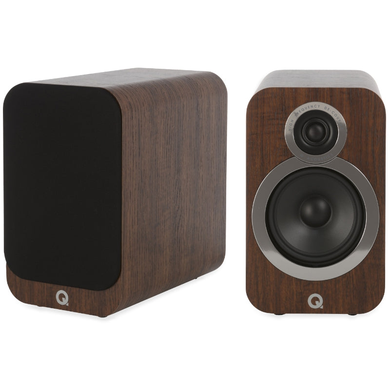 Q Acoustics 3020i Bookshelf Speakers - English Walnut