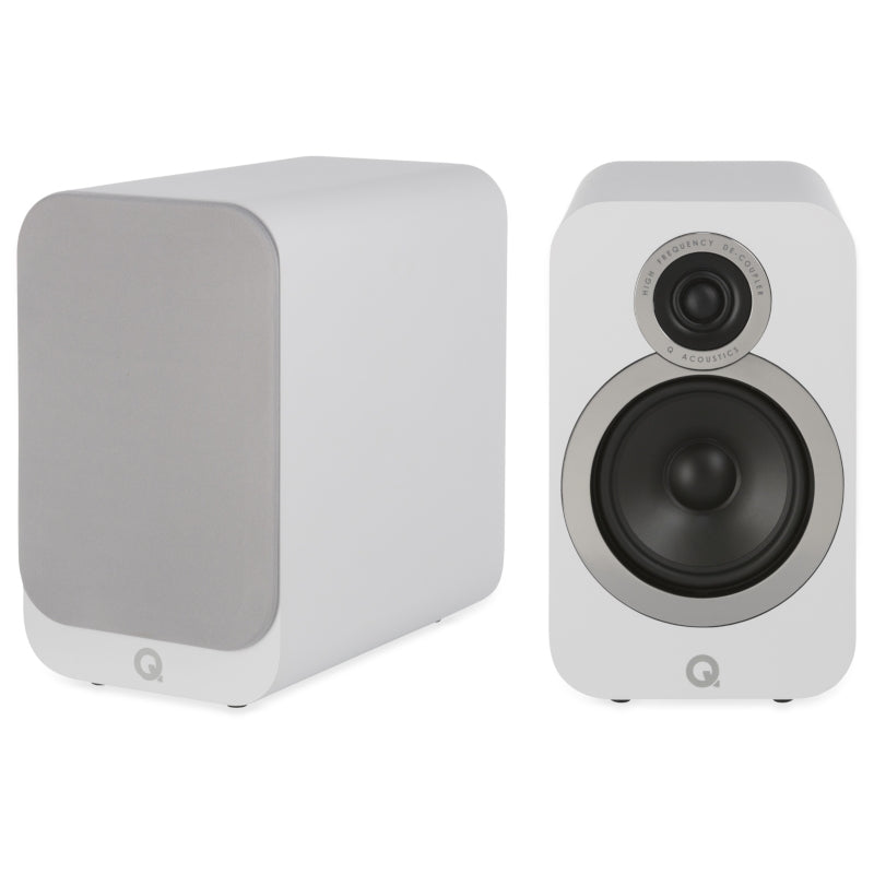 Q Acoustics 3020i Bookshelf Speakers - Arctic White