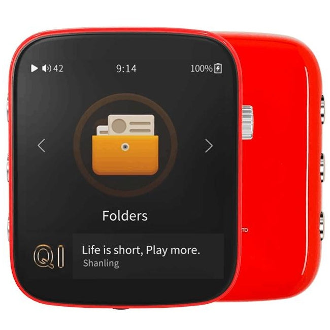 Shanling Q1 Portable Wireless Digital Audio Player & DAC - Red - Refurbished