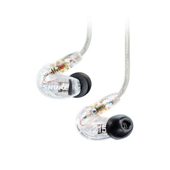 Shure SE215 Single Driver IEM Earphones with Replaceable Cable - Clear - Refurbished