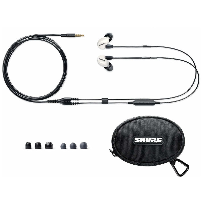 Shure SE215m+SPE Special Edition Single Driver IEM Earphones with Apple Cable - White - Refurbished