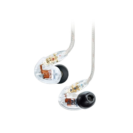 Shure SE425 Dual Drivers IEM Earphones with Replaceable Cable - Clear - Refurbished