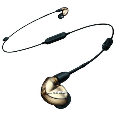 Shure SE535 Triple Drivers IEM Earphones with Detachable Bluetooth Cable - Bronze - Refurbished