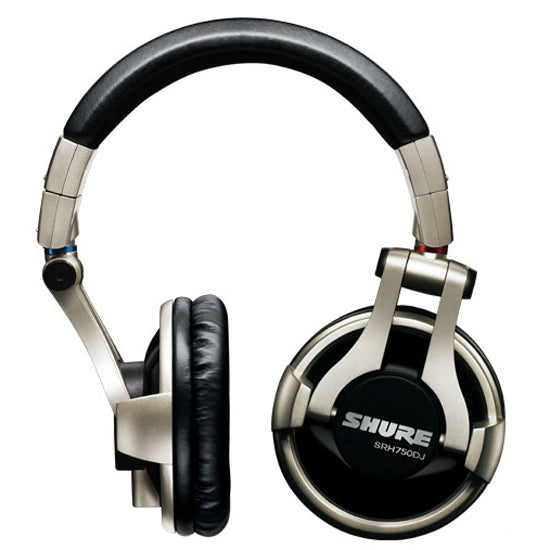 Shure SRH750DJ Closed Back Headphones with Replaceable Cable - Refurbished