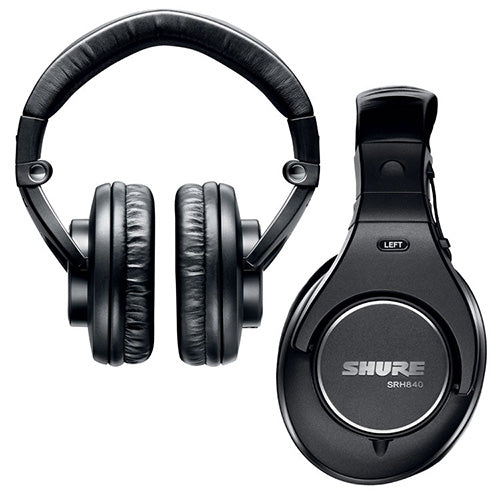Shure SRH840 Closed Back Headphones with Replaceable Cable - Refurbished