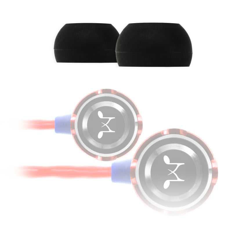 SoundMAGIC Replacement Black Bowl Silicone Eartips Medium – 3 Pairs