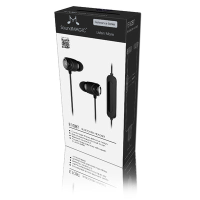 SoundMAGIC E10BT In Ear Isolating Wireless Earphones with Smartphone Controls & Mic - Black - Refurbished
