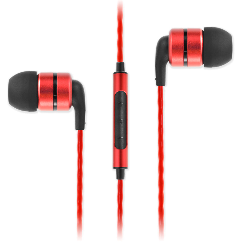 SoundMAGIC E80C In Ear Isolating Earphones with Mic - Red - Refurbished