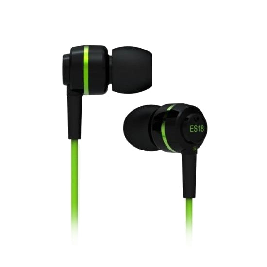 SoundMAGIC ES18 In Ear Isolating Earphones - Black & Green - Refurbished
