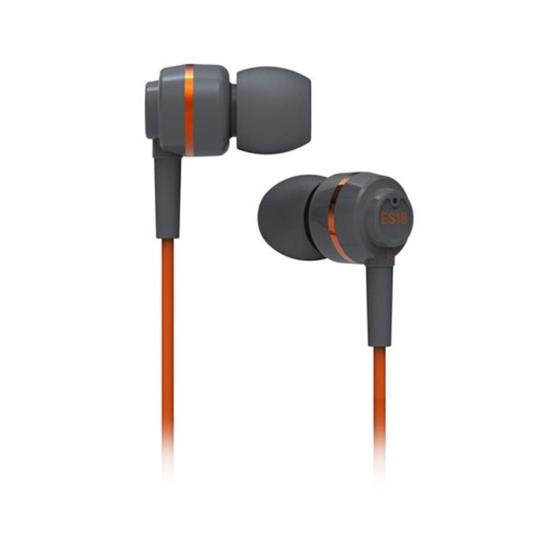 SoundMAGIC ES18 In Ear Isolating Earphones - Grey & Orange - Refurbished