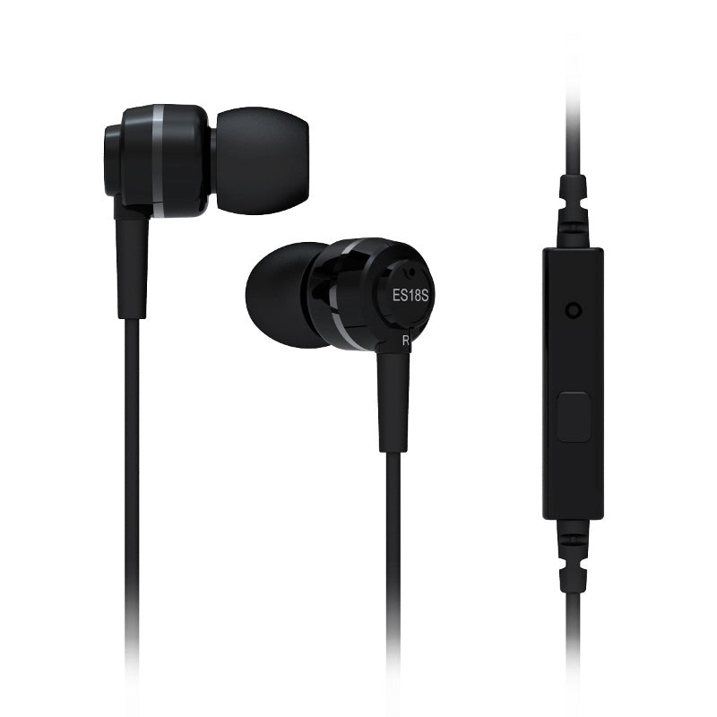 SoundMAGIC ES18S In Ear Isolating Earphones with Mic - Black & Grey
