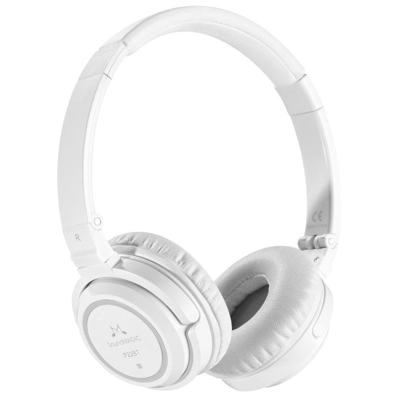 SoundMAGIC P22BT Portable Wireless Headphones - White - Refurbished