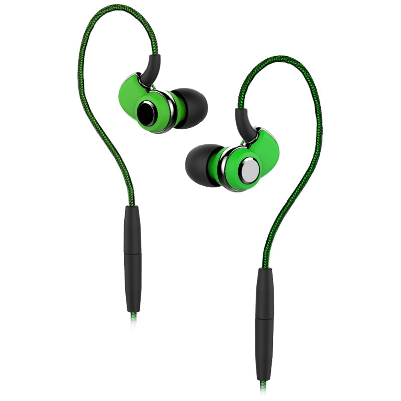 SoundMAGIC ST30 Wireless Sports Earphones with Detachable Cables - Green - Refurbished
