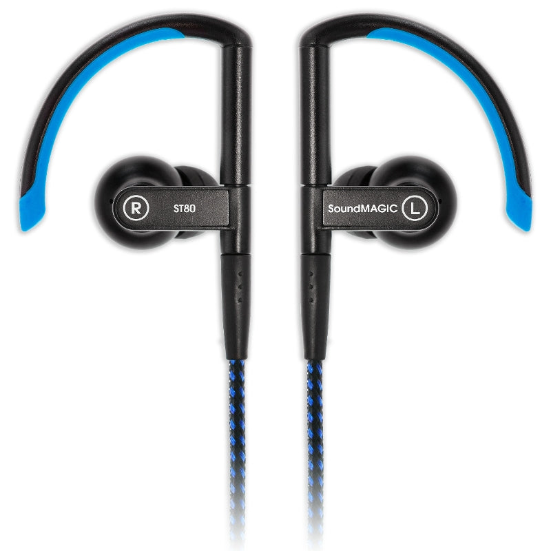 SoundMAGIC ST80 Wireless Sports Earphones with Wired-Wireless Cables - Blue - Refurbished