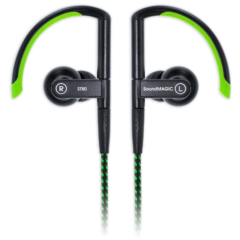 SoundMAGIC ST80 Wireless Sports Earphones with Wired-Wireless Cables - Green - Refurbished