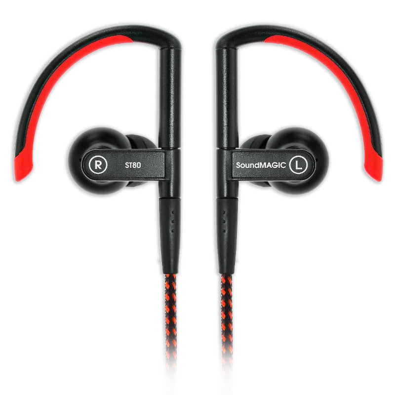 SoundMAGIC ST80 Wireless Sports Earphones with Wired-Wireless Cables - Red - Refurbished