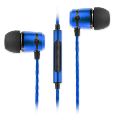 SoundMAGIC E50C In Ear Isolating Earphones with Mic - Blue - Refurbished