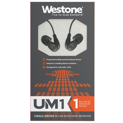 Westone UM1 Single Driver IEM Earphones - 2017 Version - Refurbished