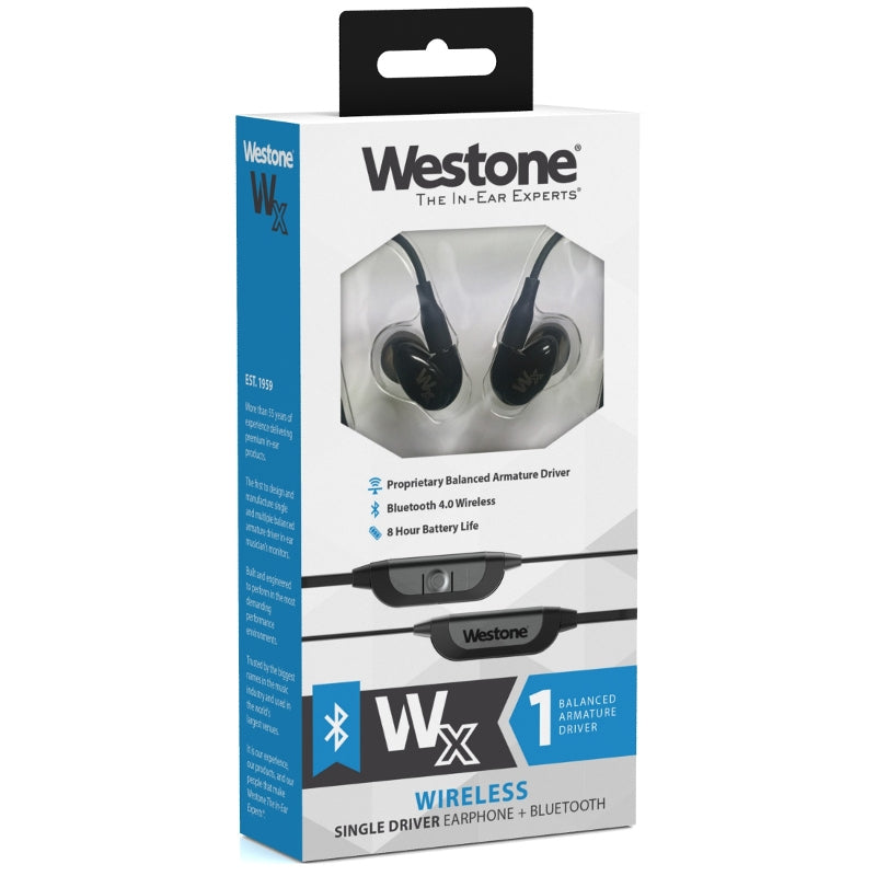 Westone Wx Single Driver Wireless Earphones with Smartphone Controls & Mic - Refurbished