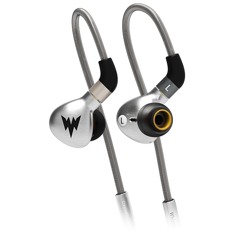 Whizzer A15 Stainless Steel IEM Earphones with Detachable Cable - Silver - Refurbished