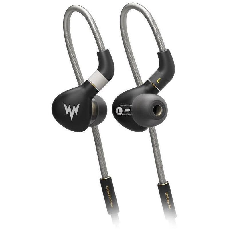Whizzer A15 PRO Stainless Steel IEM Earphones with Detachable Cable - Black - Refurbished