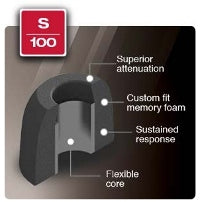 Comply Foam Ear Tips Active S-100
