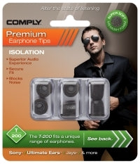 Comply Foam Ear Tips Isolation T-200