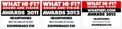 What Hi-Fi? 2011, 2012 & 2013 Award Winner