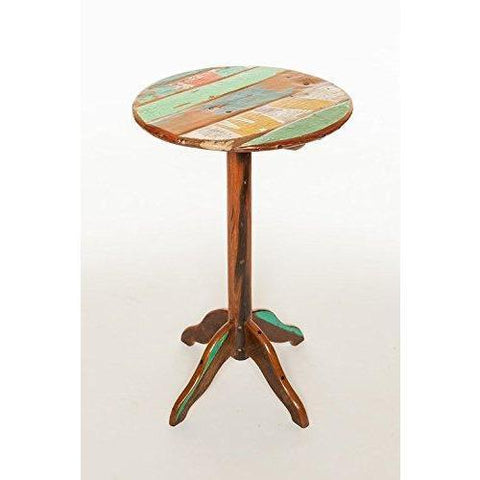 Bistro Table, Reclaimed Teak Retro Table