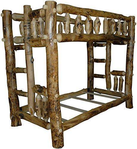 Aspen Log Bunk Bed - Twin Over Full