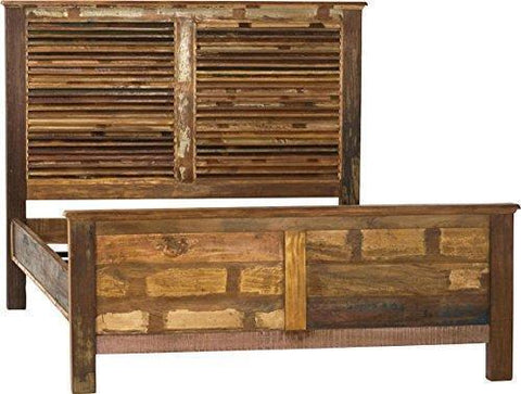 Bed Dovetail Nantucket Louvered Panel Headboard Eastern King Seal Paint