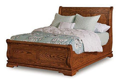 Amish Chippewa King Sleigh Bed Solid Wood